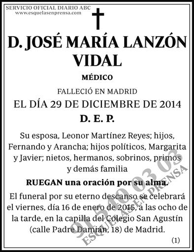 José María Lanzón Vidal